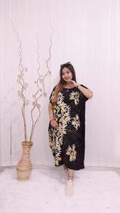 Daster Lowo Kalong Oblong Hitam Lengan Pendek