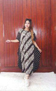 Daster Rayon Batik Lowo Lengan Pendek