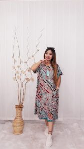 Home Dress Batik Modern Daster Kencana Ungu