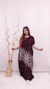 Long Dress Lowo Kelelawar Batik Ciprat Rayon