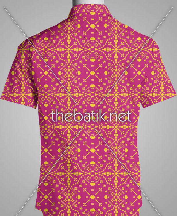 Order Pembuat Batik Seragam – Design Seragam Batik Custom 2 Warna : Ungu, Kuning