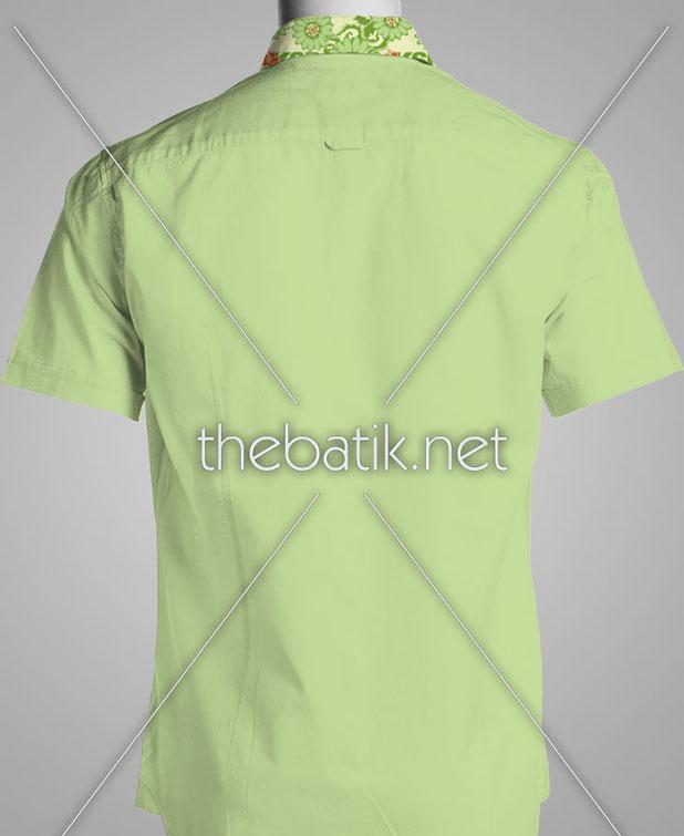 Pesan Batik Desain Sendiri – Design Seragam Batik Custom 3 Warna : Hijau Muda, Hijau Tua, Orange