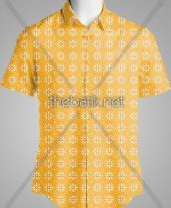 Pesan Batik Motif Sendiri – Design Seragam Batik Custom 2 Warna : Kuning, Oranye