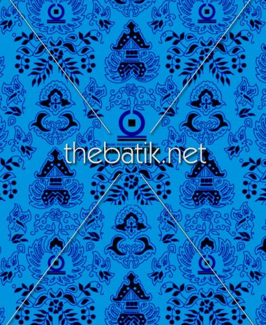 Pesan Kain Motif Sendiri – Design Seragam Batik Custom 3 Warna : Biru Muda, Biru Tua, Hitam