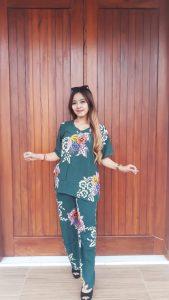 Setelan Celana Panjang Batik One Set Wanita