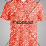 Tempat Pembuatan Batik dengan Desain Sendiri – Design Seragam Batik Custom 2 Warna : Merah, Kuning