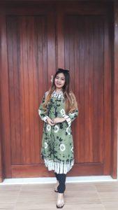Tunik Batik Tie Dye Jumputan Atasan Rayon