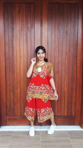 Baju Setelan Batik Jumbo Kulot Pendek Ratu Busana