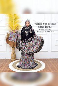 Hampers Mukena Batik Hitam Jumbo Coletan Bahan Rayon Super