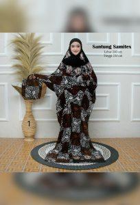Hampers Mukena Batik Terusan Bahan Santung Rayon Samitex Jumbo