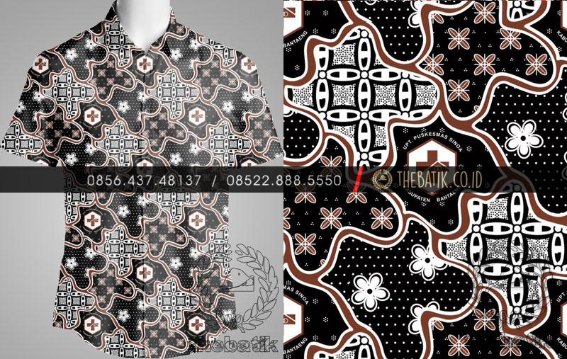 Seragam Batik PUSKESMAS BANTAENG Eksklusif Motif Custom Desain Logo Identitas