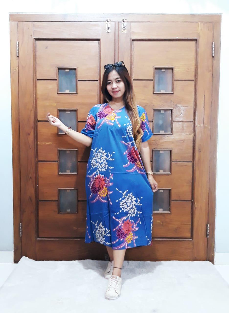 Baju Daster Batik Murah Lengan Pendek Model Midi